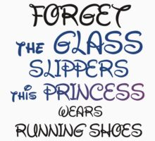 GLASS SLIPPERS (BLK WRITING) One Piece - Short Sleeve
