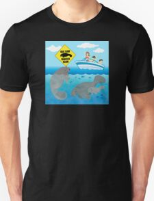 Boat Slow Manatees Below T-Shirt