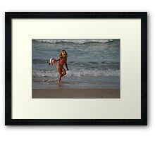 Childs Play at the Beach (Part 2) Framed Print