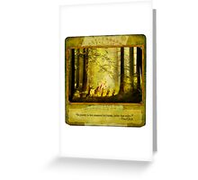 2010 Foxfires Calendar - August Greeting Card