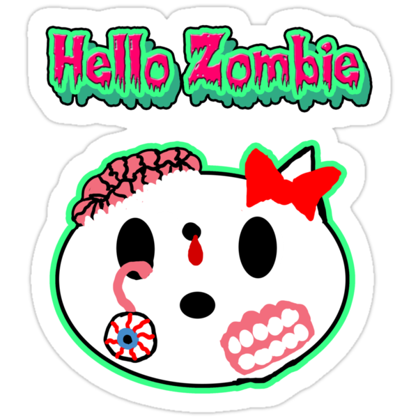 Hello Zombie Kitty by Rajee