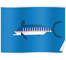 Marlin geometrical vector illustration Poster