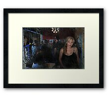 Alone In A Crowded Room Framed Print