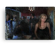 Alone In A Crowded Room Canvas Print