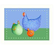 French Hens Art Print