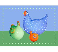 French Hens Photographic Print