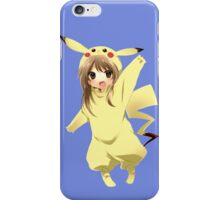 pokemon chibi girl pikachu anime shirt iPhone Case/Skin