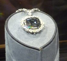 Hope Diamond Face by Mary Kaderabek-Aleckson