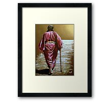 Navajo Woman...Long Walk Home... Framed Print