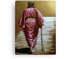 Navajo Woman...Long Walk Home... Canvas Print