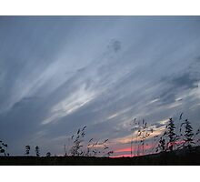 Brush Srokes in The Sky...... Photographic Print