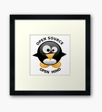 Open Source Open Mind Framed Print