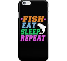 FISH EAT SLEEP REPEAT iPhone Case/Skin