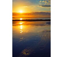 beal beach reflections Photographic Print