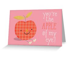 apple in love Greeting Card