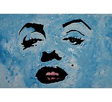 Marily in blue Photographic Print