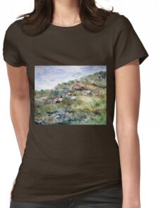 Along the coastline Womens Fitted T-Shirt