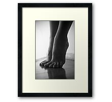 Sculpture of feet Framed Print