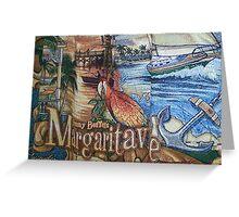 Margaritaville Tapestry. Greeting Card