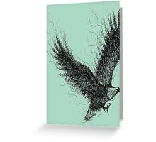 Eagle Curl Abstract Greeting Card