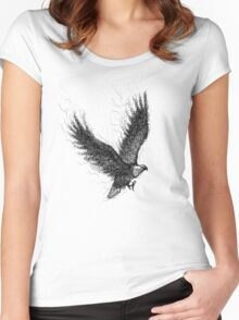 Eagle Curl Abstract Women's Fitted Scoop T-Shirt