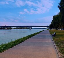 Esplanade on the banks of the river   waterscape photography by Patrick Jobst