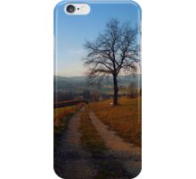 Tree, trail and indian summer evening | landscape photography iPhone Case/Skin