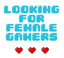 Looking for Female Gamers by mahalitta