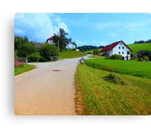 Hiking through a peaceful scenery II | landscape photography Canvas Print