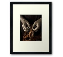 TOILING HANDS Framed Print
