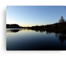 Indian summer sunset at the fishing lake IV | waterscape photography Canvas Print