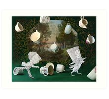 Mad Tea Party: The aftermath Art Print