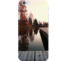 Romantic evening at the lake IV | waterscape photography iPhone Case/Skin