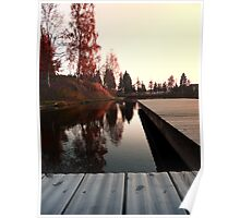 Romantic evening at the lake IV | waterscape photography Poster