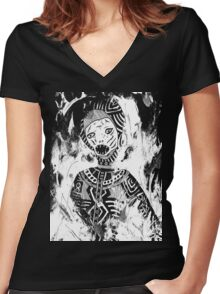 inferno Women's Fitted V-Neck T-Shirt