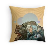 Heroes of the Solar System Throw Pillow