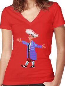 The lovely STAN (Monkey Island) Women's Fitted V-Neck T-Shirt