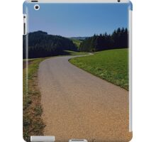 Country road through rural scenery II | landscape photography iPad Case/Skin