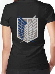 Shingeki No Kyojin Wings Of Freedom Women's Fitted V-Neck T-Shirt