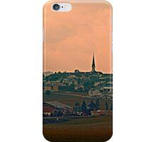 Hazy scenery with beautiful village skyline | landscape photography iPhone Case/Skin