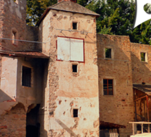 The ruins of Reichenau castle | architectural photography Sticker