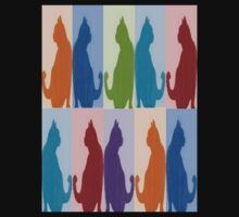 Silhouette Cat Collage Pattern New Media Art Kids Clothes