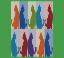 Silhouette Cat Collage Pattern New Media Art Baby Tee