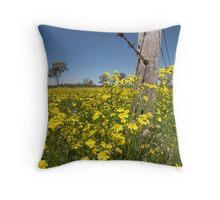 Yellow Fields Throw Pillow