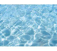 blue fountain Photographic Print
