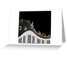 Ivory Keys Piano Music Greeting Card