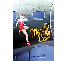 Memphis Belle Nose Art Photographic Print