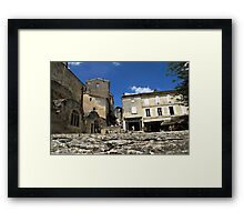 Ant's eye view of St Emilion Framed Print