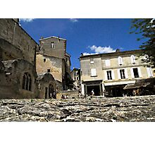 Ant's eye view of St Emilion Photographic Print