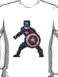 8-Bit Captain America T-Shirt